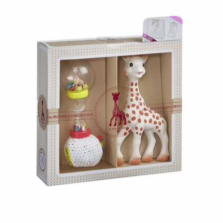 Immagine di Vulli® Set regalo massaggiagengive Giraffa Sophie e sonaglio Sophiesticated