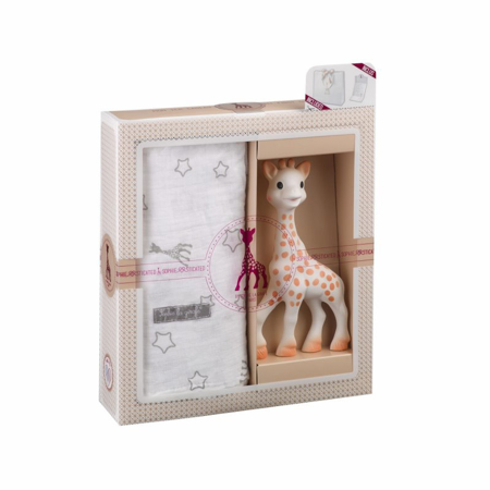Immagine di Vulli® Set regalo Giraffa Sophie e mini mussola Sophiesticated