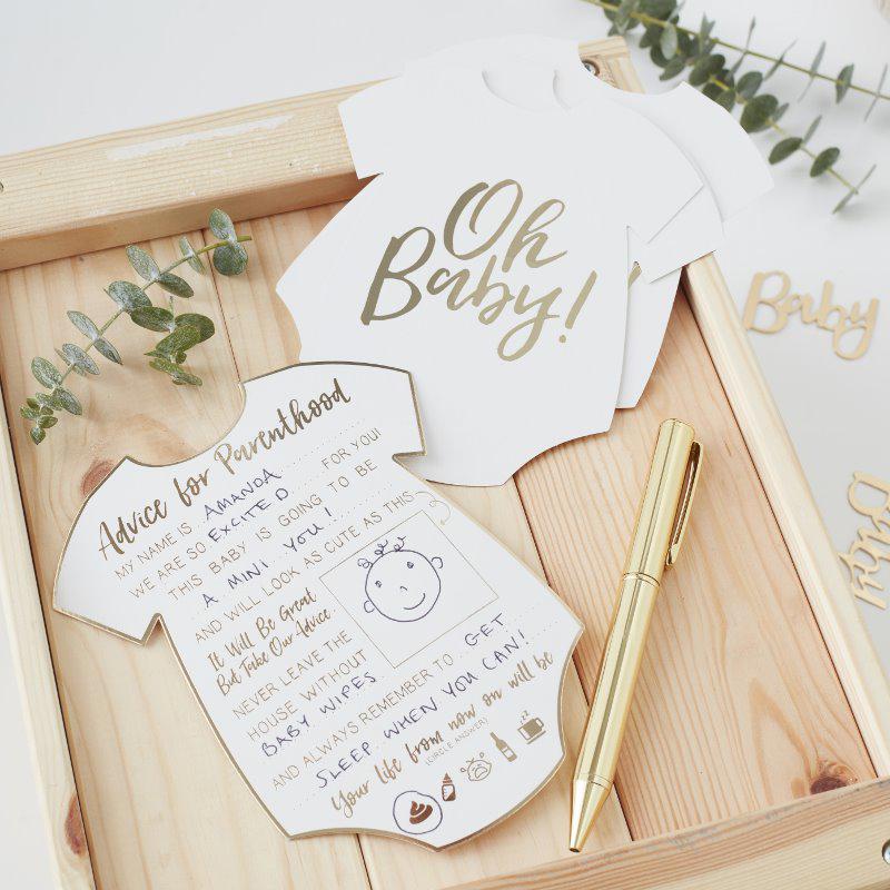 Ginger Ray® Kartice za nasvete Oh Baby! 10 kosov