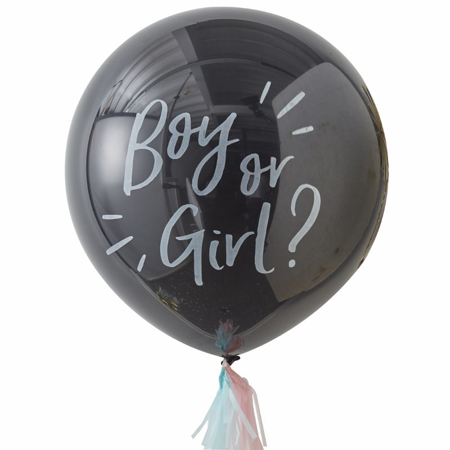 Picture of Ginger Ray® Gender Reveal Boy Or Girl? Balloon Kit