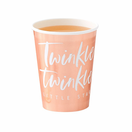 Ginger Ray® Rose Gold bicchieri di carta Twinkle Twinkle 8 pz.