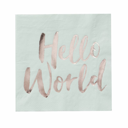 Immagine di Ginger Ray® Tovaglioli Hello World 20 pz.