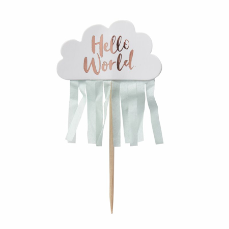 Ginger Ray® Decorazioni per dolci Hello World 10 pz.