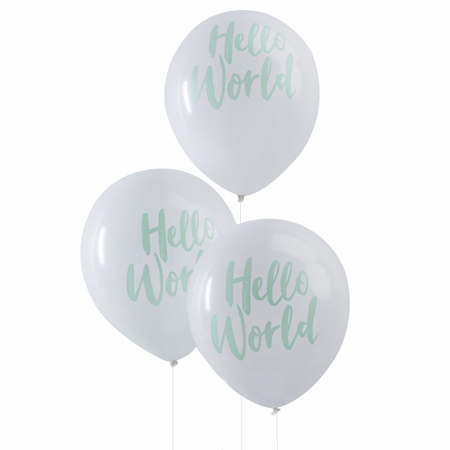 Ginger Ray® Palloncini Hello World Mint 10 pz.