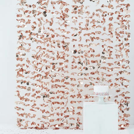 Picture of Ginger Ray® Photo Booth Backdrop Rose Gold