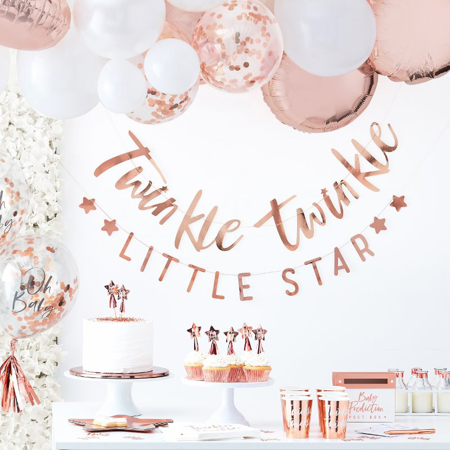 Immagine di Ginger Ray® Milestone schede Rose Gold Twinkle Twinkle 24 pz.