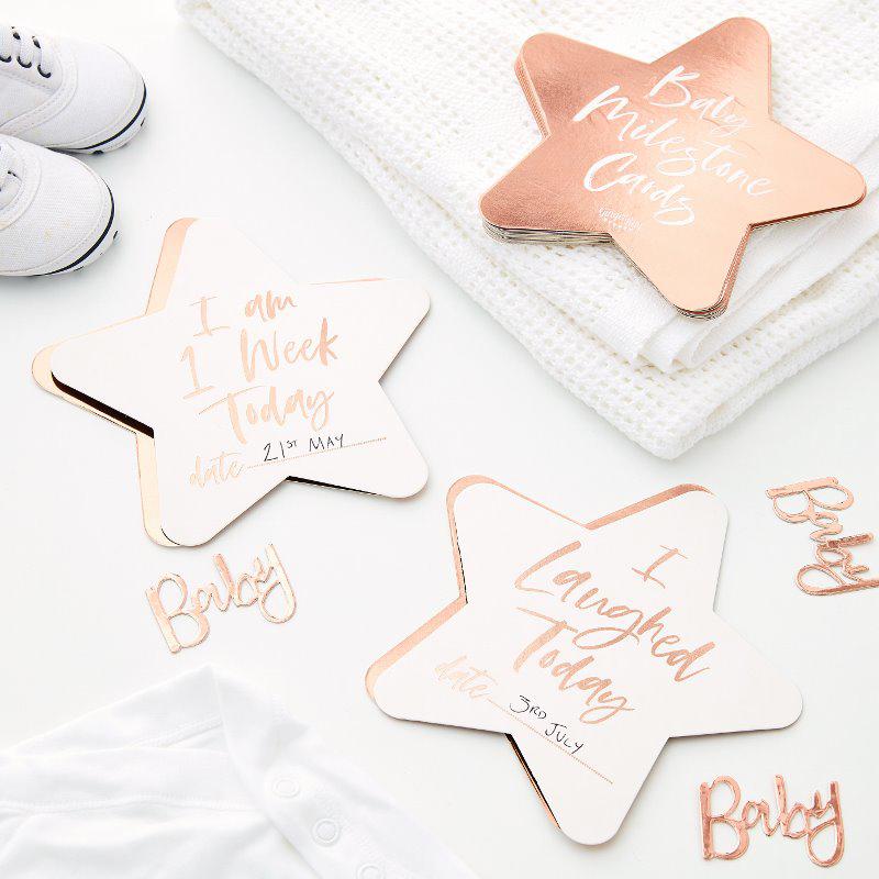 Ginger Ray® Milestone kartice  Twinkle Twinkle 24 kosov