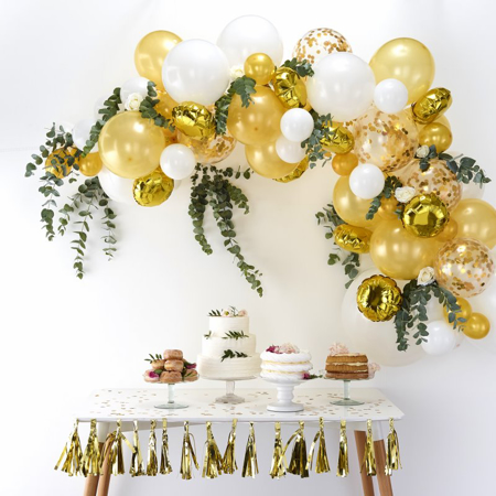 Immagine di Ginger Ray® Set Arco palloncini Gold