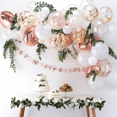 Immagine di Ginger Ray® Set Arco palloncini Rose Gold