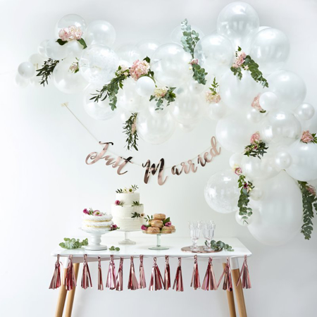 Immagine di Ginger Ray® Set Arco palloncini White