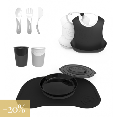 Immagine di Twistshake® Set pappa Black&White