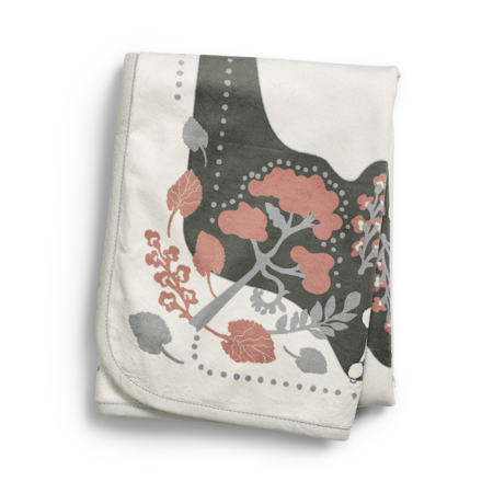 Picture of Elodie Details® Žametna odejica Rebel Poodle Vanilla White 75x100