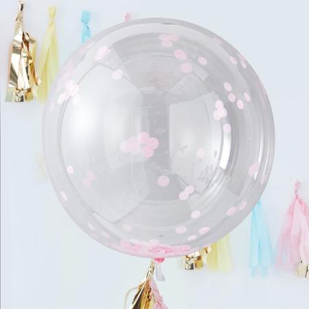 Ginger Ray® Veliki baloni s konfeti Pink 3 kosi