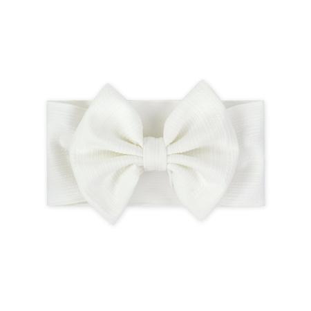 Fascia per capelli con fiocco Bianco