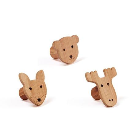 Immagine di Kids Concept® Set appendiabiti in legno