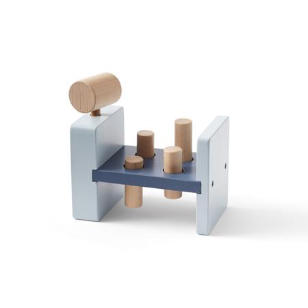 Kids Concept® Gioco in legno con martello Edvin Blue