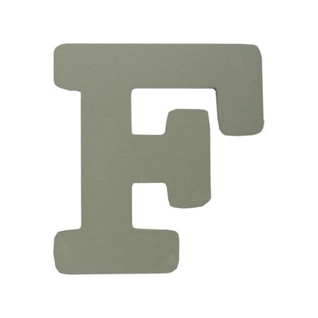 BamBam® Lettere di legno Grigie - F