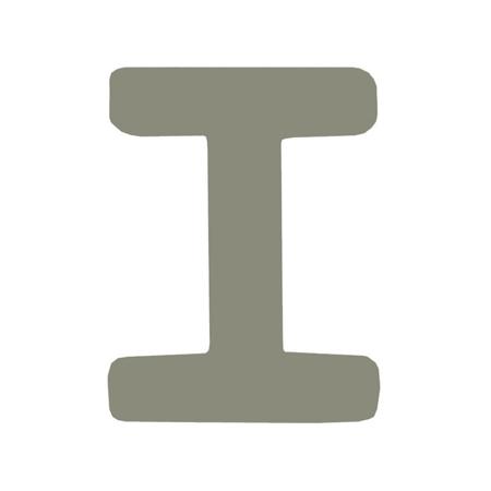 BamBam® Lettere di legno Grigie - I