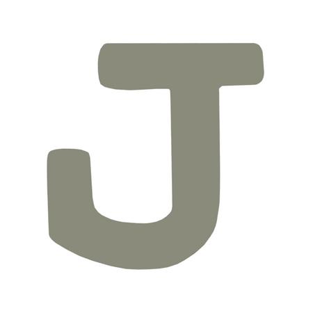 BamBam® Lettere di legno Grigie - J