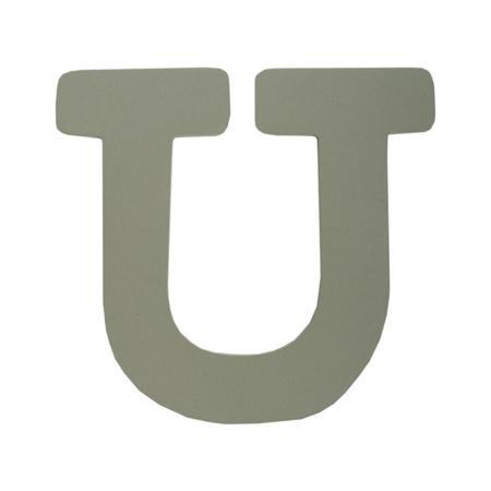 BamBam® Lettere di legno Grigie - U