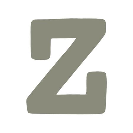 BamBam® Lettere di legno Grigie - Z