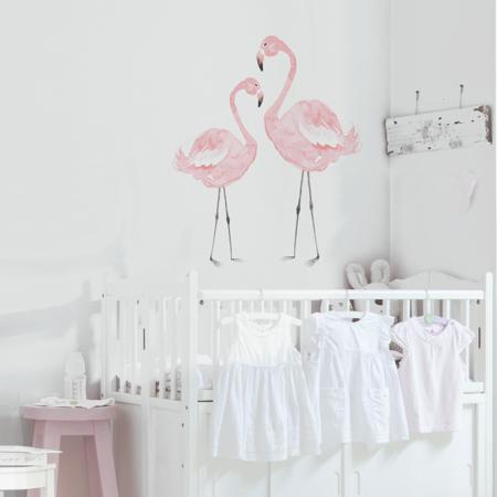 Immagine di Dekornik® Adesivo parete Flamingos