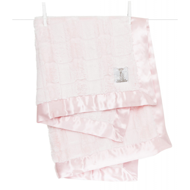 Picture of Little Giraffe® Luxe Twist Baby Blanket Waterfall Pink