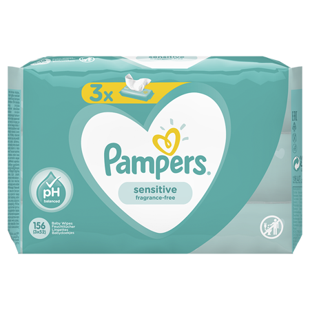 Immagine di Pampers® Salviettine umidificate Sensitive 3x52 pz.