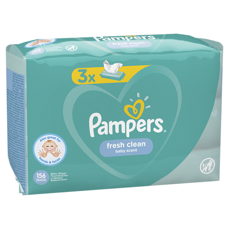 Pampers® Salviettine umidificate Fresh Clean 3x52 pz.