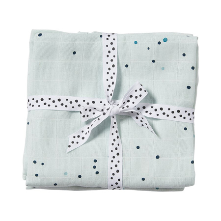 Immagine di Done by Deer® Set di 2 teli Dreamy Dots Blu 120x120