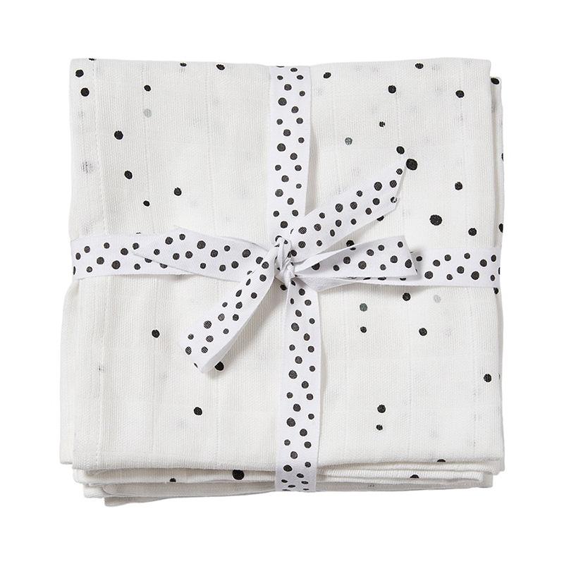 Done by Deer® Komplet 2 povijalnih pleničk Dreamy Dots White 120x120