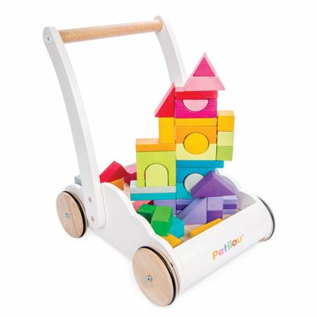Le Toy Van® Carrello in legno con cubi