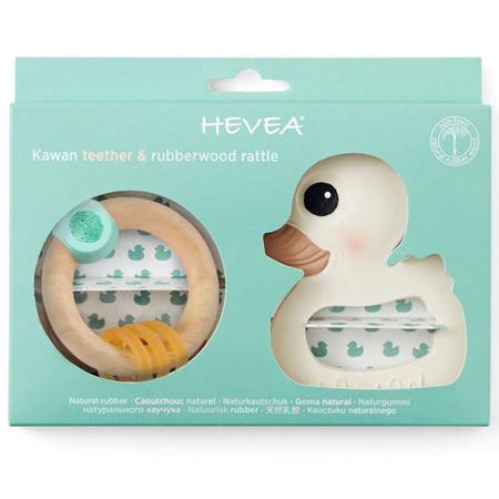 Immagine di Hevea® Set regalo massaggiagengive papera Kawan e anello in legno