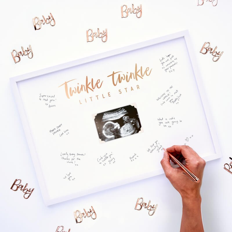 Picture of Baby Shower Signing Frame Guest Book - Twinkle Twinkle