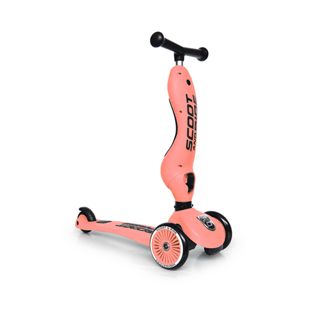Scoot & Ride® Bici senza pedali e monopattino 2 in 1 Highwaykick 1 Peach