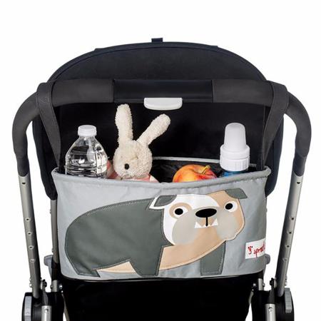 3Sprouts® Cestino porta oggetti per passeggino Buldog