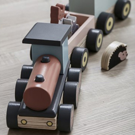 Picture of Kids Concept® Animal wood train EDVIN