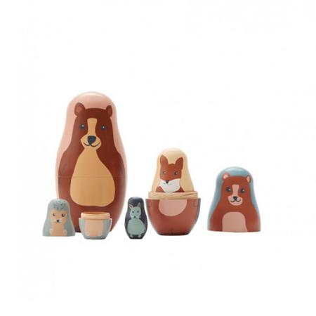 Immagine di Kids Concept® Bambole russe in legno Edvin