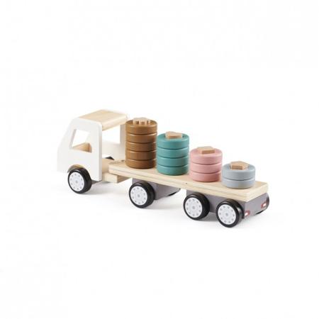 Kids Concept® Camion di legno con rimorchio Aiden