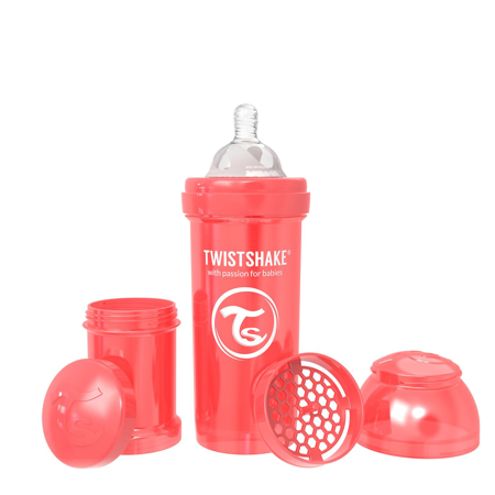 Immagine di Twistshake® Biberon  Anti-Colic 260ml (2+m) Pearl Red