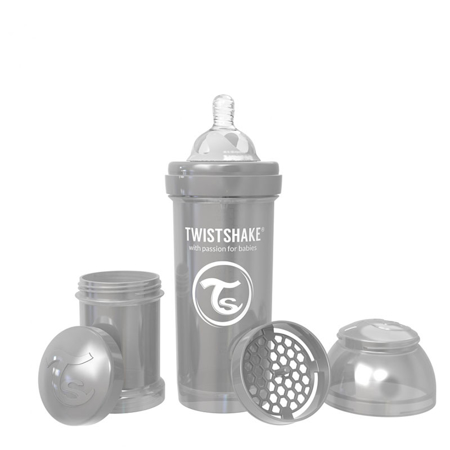 Immagine di Twistshake® Biberon  Anti-Colic 260ml (2+m) Pearl Grey
