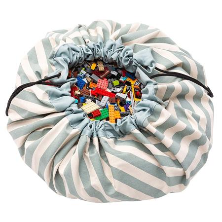 Immagine di Play&Go® Sacco Portagiochi e Tappeto Stripes Green