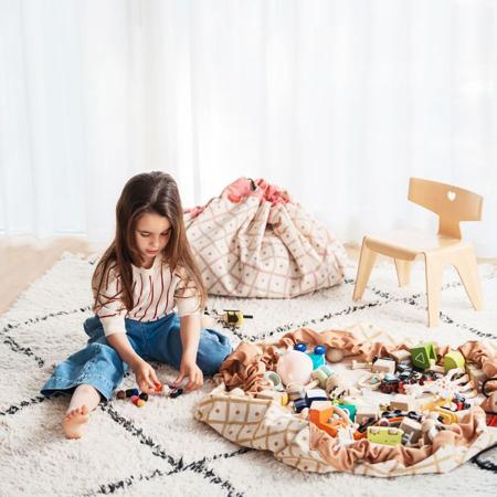 Immagine di Play&Go® Sacco Portagiochi e Tappeto Geo/Mustard