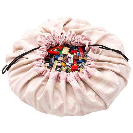 Immagine di Play&Go® Sacco Portagiochi e Tappeto Stripes Pink