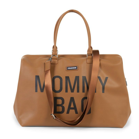 Childhome® Borsa fasciatoio Mommy Bag Leatherlook Brown