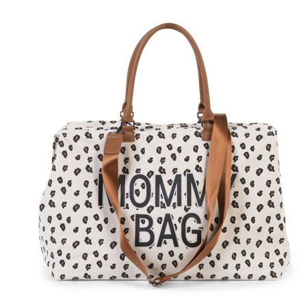 Childhome® Borsa fasciatoio Mommy Bag Big Canvas Leopard