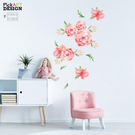 Pick Art Design® Adesivo da parete Fiori