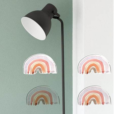 Pick Art Design® Adesivo da parete Piccolo unicorno con arcobaleni