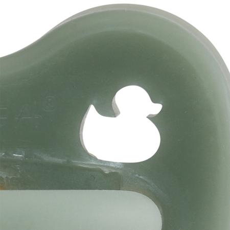 Immagine di Hevea® Ciuccio ortodontico in caucciù Moss Green PAPERA