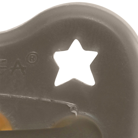Immagine di Hevea® Ciuccio ortodontico in caucciù Shitate Grey LUNA&STELLE